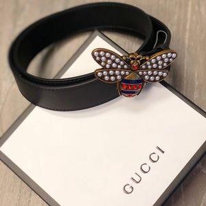 Gucci Queen Margaret black Gucci belt